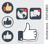 set of thumb up icons  like... | Shutterstock .eps vector #556918801