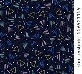 retro memphis geometric line... | Shutterstock .eps vector #556921159