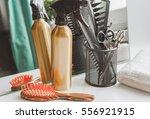 hairdresser working desk...   Shutterstock . vector #556921915