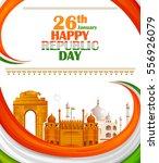 26th january  happy republic... | Shutterstock .eps vector #556926079