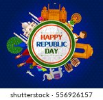 26th january  happy republic... | Shutterstock .eps vector #556926157