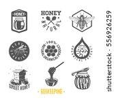 beekeeping. set of vintage... | Shutterstock . vector #556926259