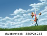digital painting illustration... | Shutterstock . vector #556926265