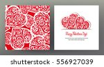 set of seamless patterns and... | Shutterstock .eps vector #556927039