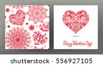 set of seamless patterns and... | Shutterstock .eps vector #556927105