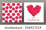 set of seamless patterns and... | Shutterstock .eps vector #556927219