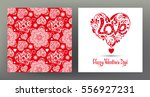 set of seamless patterns and... | Shutterstock .eps vector #556927231