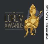 movie awards background. cinema ... | Shutterstock .eps vector #556927609