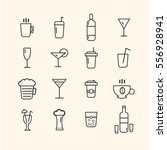 thin line drink icons for... | Shutterstock .eps vector #556928941