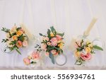 wedding decor  floral  wedding... | Shutterstock . vector #556934761