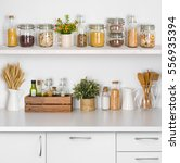 Kitchen Bench Shelves With...