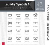 laundry symbols 1 elements... | Shutterstock .eps vector #556937719