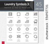laundry symbols 3 elements... | Shutterstock .eps vector #556937731