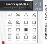 laundry symbols 2 elements... | Shutterstock .eps vector #556939075
