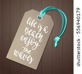 luggage tag with travel... | Shutterstock .eps vector #556940179
