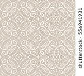 vintage beige swirly ornament ... | Shutterstock .eps vector #556941931
