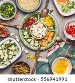 healthy vegetarian salad... | Shutterstock . vector #556941991