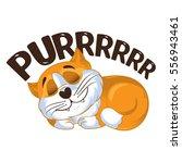 cartoon vector ginger cat ... | Shutterstock .eps vector #556943461
