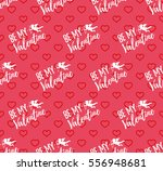 happy valentines day pattern... | Shutterstock .eps vector #556948681