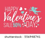happy valentines day cards with ... | Shutterstock .eps vector #556948741