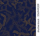 seamless pattern with branches... | Shutterstock .eps vector #556949209