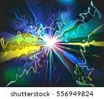 unusual galaxy glassy waves... | Shutterstock .eps vector #556949824