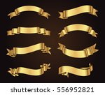 golden ribbon banners.set of... | Shutterstock .eps vector #556952821