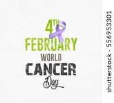 world cancer day in february... | Shutterstock .eps vector #556953301