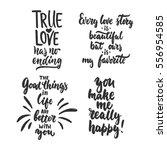 set of hand drawn saint... | Shutterstock .eps vector #556954585