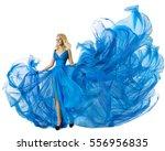 fashion model dancing in blue... | Shutterstock . vector #556956835