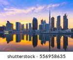 view on skyscrapers in modern... | Shutterstock . vector #556958635