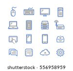 network and mobile devices.... | Shutterstock .eps vector #556958959