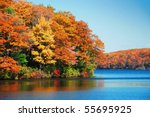 Autumn Colorful Foliage Over...