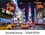 Stock photo new york city sept times square featured with broadway theaters and animated led signs is a 55695934
