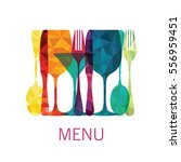 food and drinks. menu. vector... | Shutterstock .eps vector #556959451