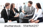 business team discussing... | Shutterstock . vector #556964257
