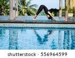 Asia Woman Doing Yoga Fitness...