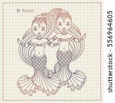 vector hand drawing... | Shutterstock .eps vector #556964605