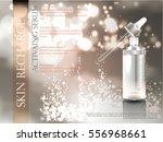 skin serum toner template ... | Shutterstock .eps vector #556968661