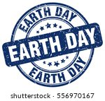 earth day. stamp. blue round... | Shutterstock .eps vector #556970167
