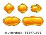 vector golden game assets set....