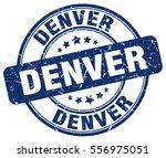 denver. stamp. blue round... | Shutterstock .eps vector #556975051
