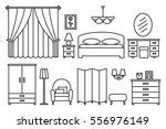 bedroom modern furniture. home... | Shutterstock . vector #556976149