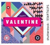 vector greeting card happy... | Shutterstock .eps vector #556976191