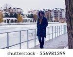 walking woman   Shutterstock . vector #556981399