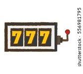casino slot machine icon over... | Shutterstock .eps vector #556981795