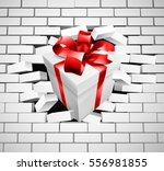 a white gift or present with... | Shutterstock . vector #556981855