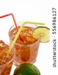 fresh fresh cocktail with cola... | Shutterstock . vector #556986127