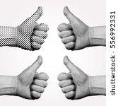 vector dotted halftone like... | Shutterstock .eps vector #556992331