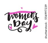stylish text happy women's day. | Shutterstock .eps vector #556997239